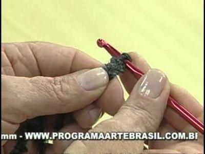 ARTE BRASIL - CLAUDIA MARIA - CACHECOL DE CORRENTINHAS EM CROCHÊ (06.09.2010 - Parte 1 de 2)