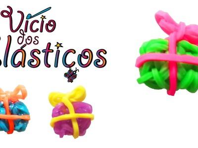 Como fazer Presentes Pequenos de elasticos (sem Tear) - Rainbow Loom Natal