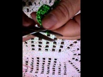 Crochê botão de Rosa