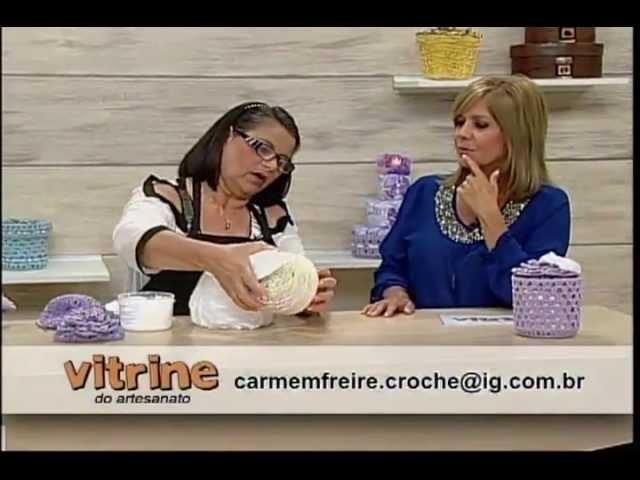 Crochê Endurecido com Carmem Freire - Vitrine do Artesanato na TV