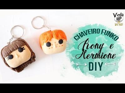 DIY CHAVEIRO FUNKO: RONY E HERMIONE ❤ VEDA HP #25