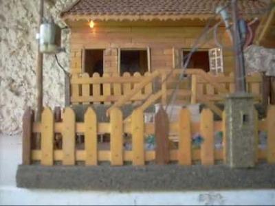 Miniatura de casinha com palitos de picolé.wmv