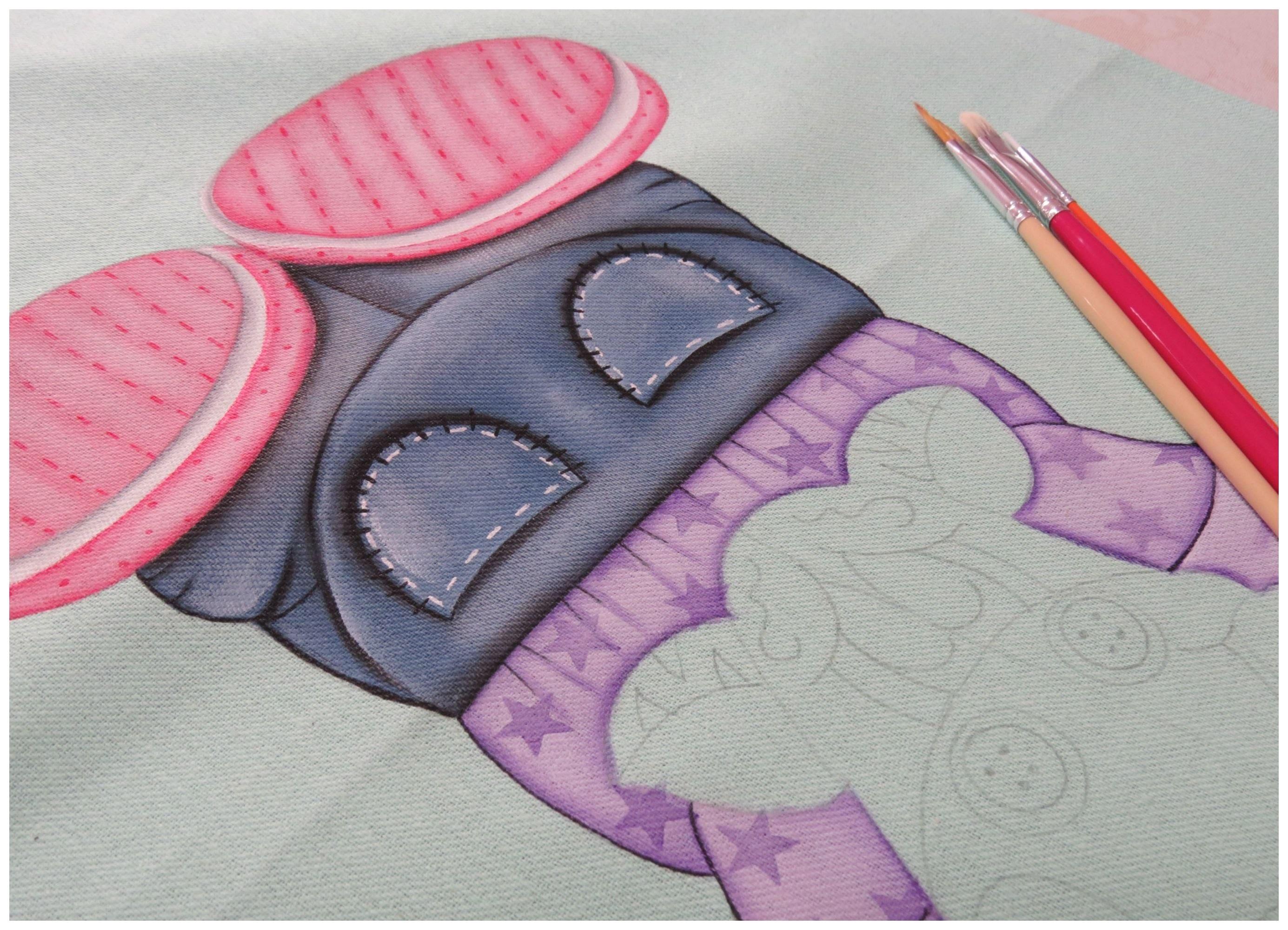 Pintura em tecido - Zebrinha Jurema - Parte 3