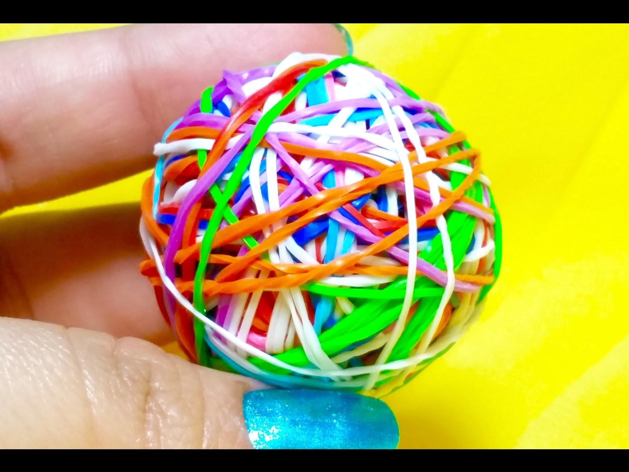Rainbow Loom: Como fazer bola de ELÁSTICO-BOLA DE GOMITAS- TUTORIAL DE GOMITAS