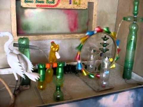 Roda dagua em garrafas pet