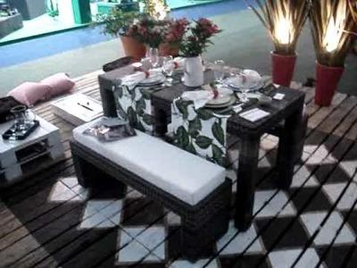 Tablado e sofás de paletes usados - Fiaflora 2010