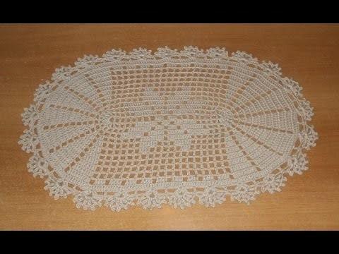 Tapete Deise de crochê oval em barbante parte 1 - crochet rug - alfombra de ganchillo