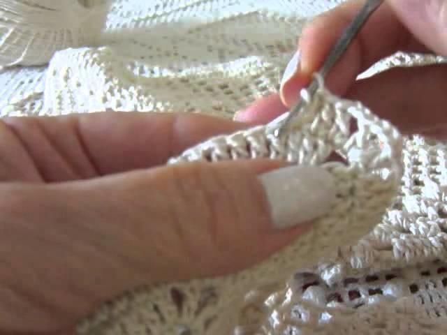 Vídeo aula de colcha de crochê Parte 5