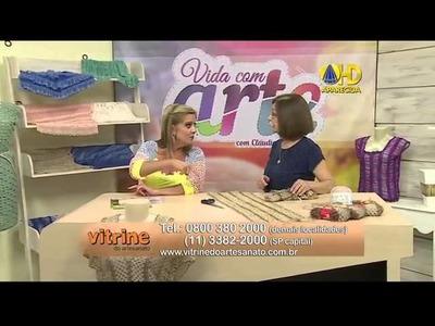 Blusa em crochê, fio Crivo, Claudia Maria, Vida com Arte