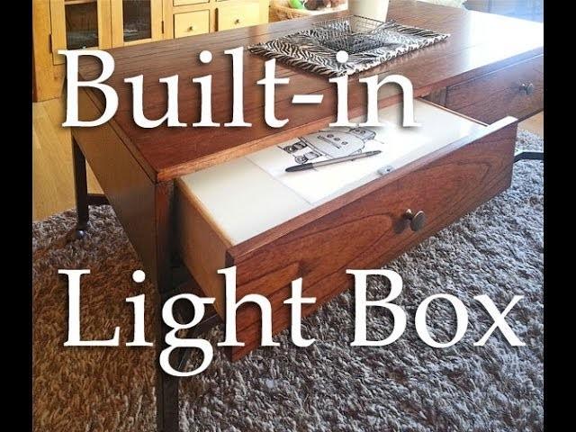Built-in Wireless Light Box. Caixa de Luz Portável.