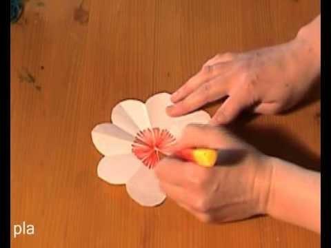 Cartão flor papel