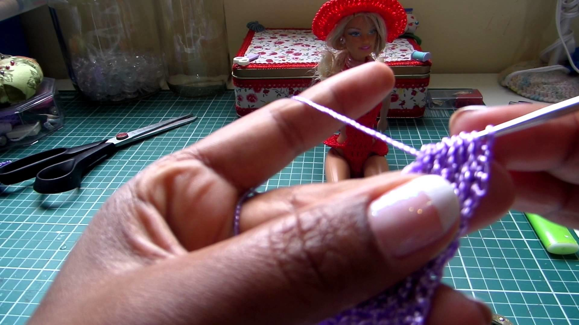 Como fazer maiô para Barbie em crochê