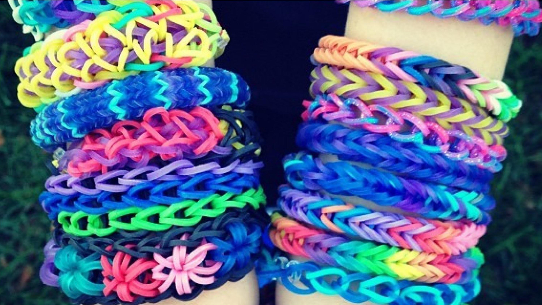 Como fazer pulseiras de elásticos   Rainbow Loom Passo a Passo