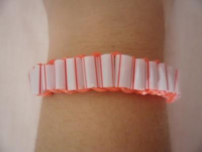 ♥ Como fazer pulseiras de elástico -  Pulseira com Canudinho sem tear  Loom Bands sem tear