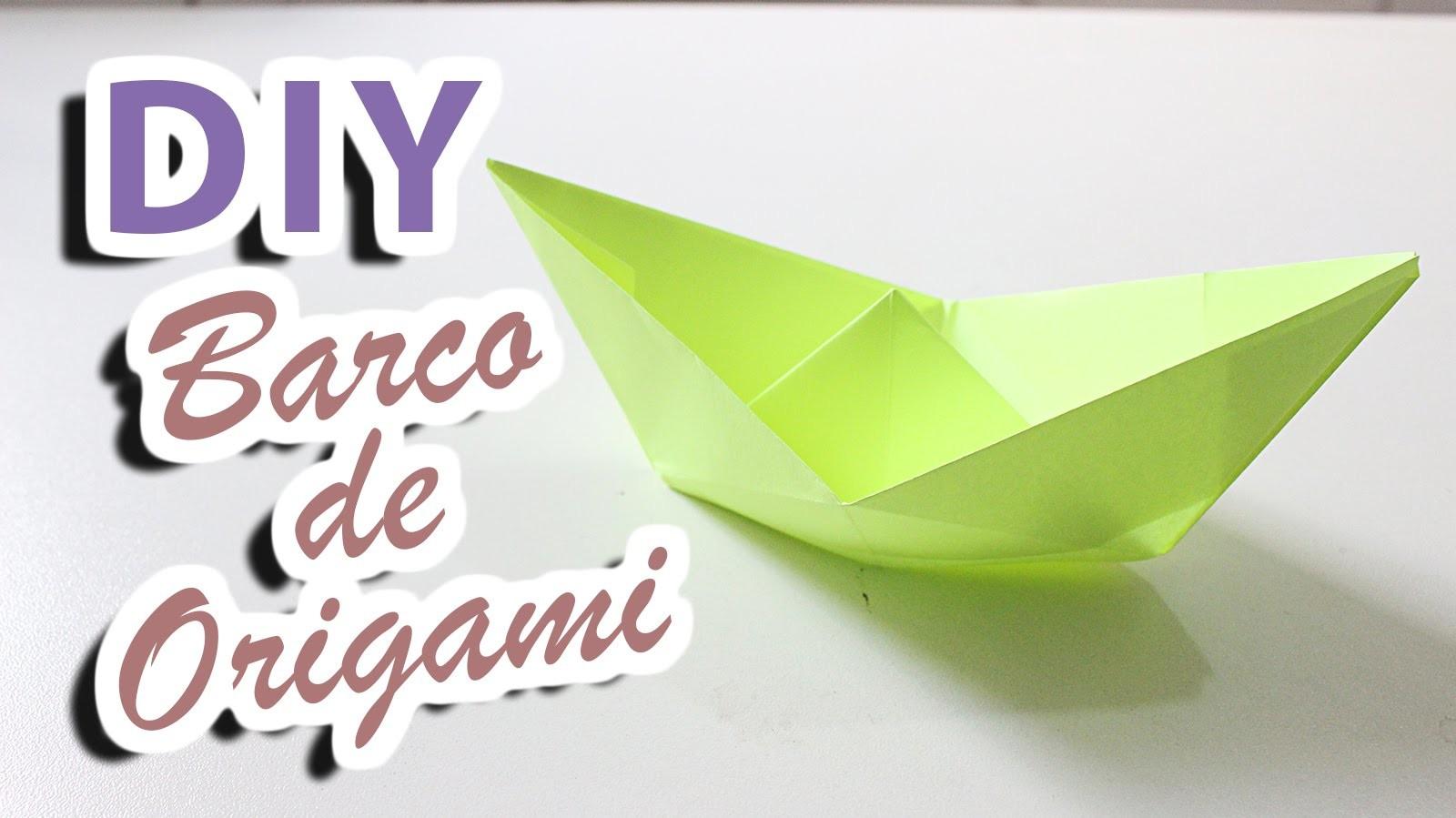 Diy barco de origami