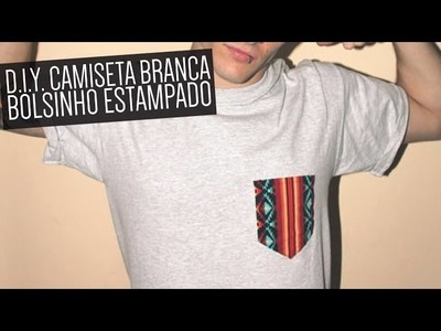 DIY: Customização de camiseta branca com bolso estampado
