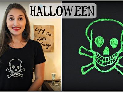 DIY Halloween: Customização com Tinta que Brilha no Escuro