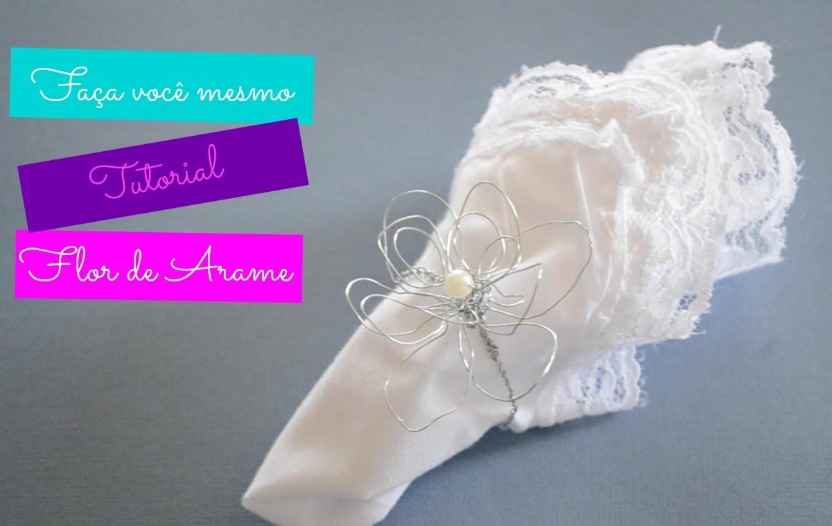 DIY WIRE FLOWERS :: TUTORIAL Flor de arame modelo 2