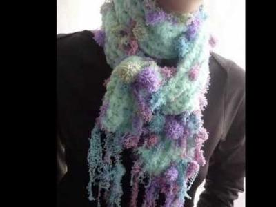 Meu cachecol koralfarben - Mein gehäkelter Koralfarben Schal.scarf, lace, bufanda, xale
