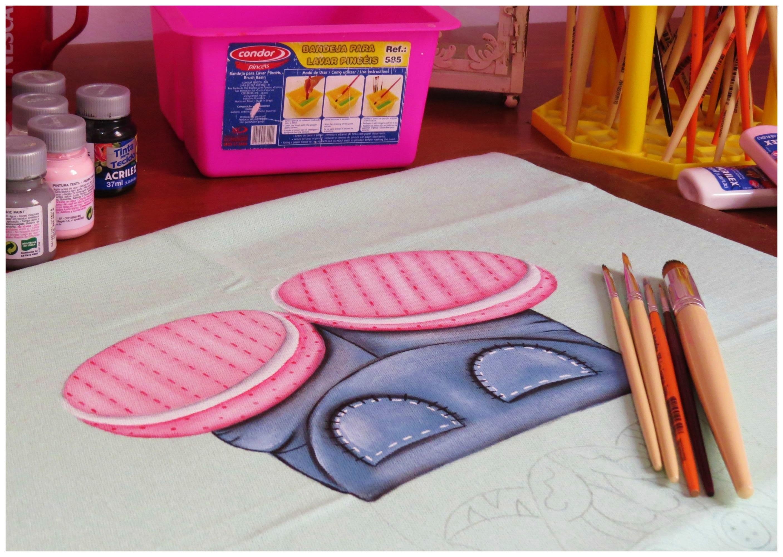 Pintura em tecido - Zebrinha Jurema - Parte 2