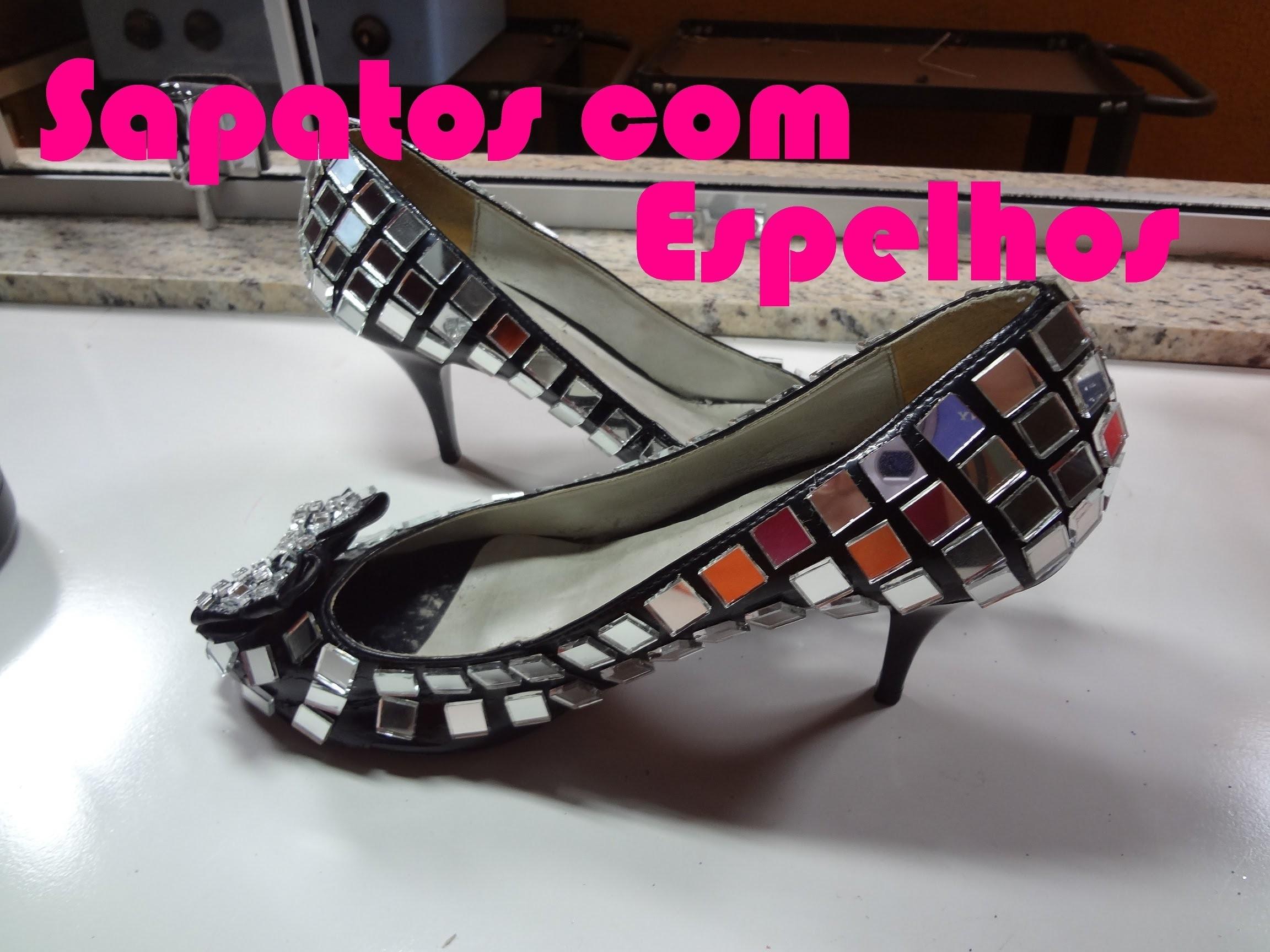 Sapato com espelhos Por LariKoze