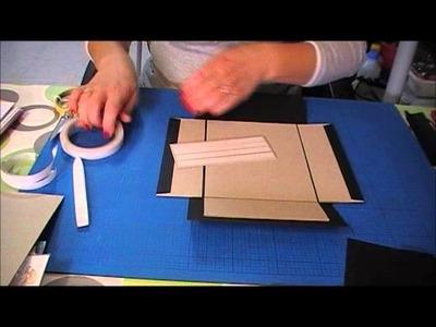 Tutorial caixa com moldura e mini album 1ºparte