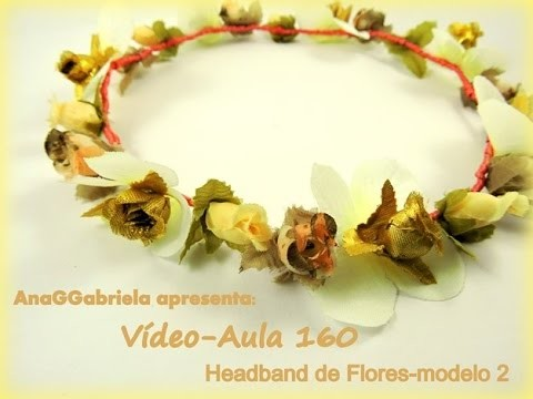 AnaGGabriela - Video-Aula 160  Head Band modelo 2