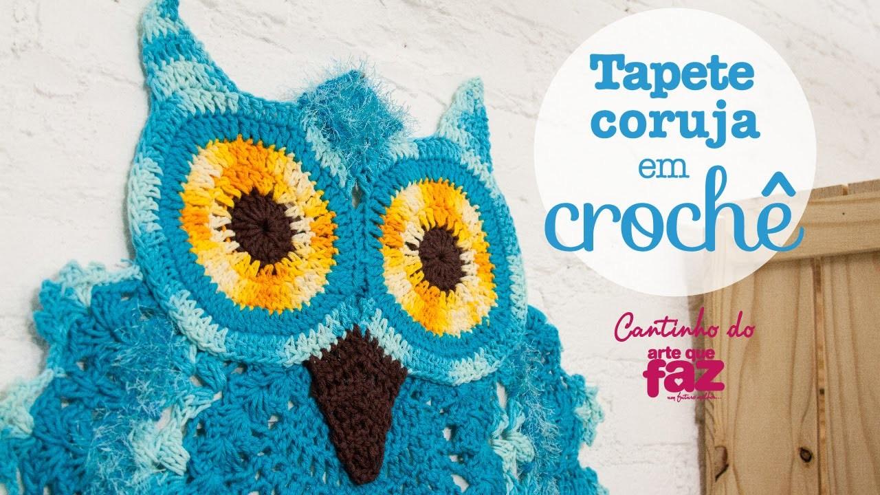 Artesanato Tapete coruja em crochê (Diane Gonçalves)