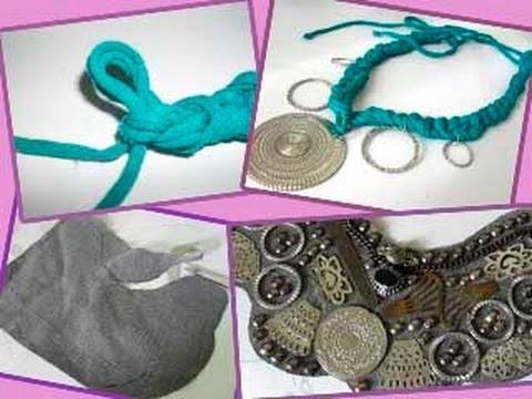 Bijuterias e acessórios feitos com tecidos e retalhos