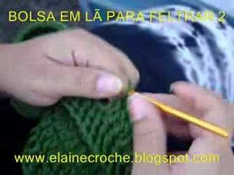 BOLSA EM LÃ PARA FELTRAR 2