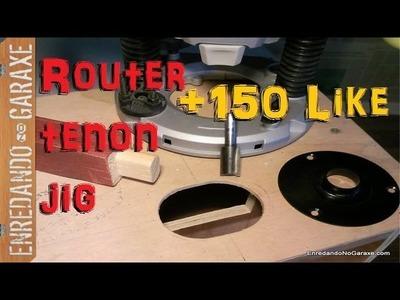 Como hacer plantilla para cortar espigas con la fresadora. How to make router tenon jig, part 2.