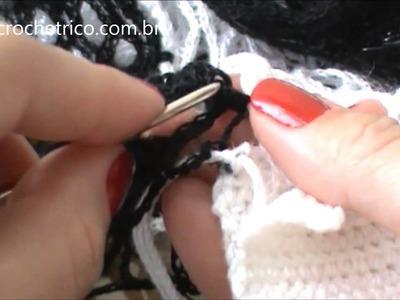 Crochê para Canhotas - Blusa Rede - Parte 06.07