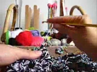 Crochê - Tapete em Barbante com Flor Parafuso - Parte II