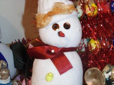 DIY:Como fazer um Boneco de Neve com meia