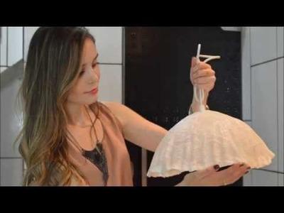 DIY: Luminária de Renda