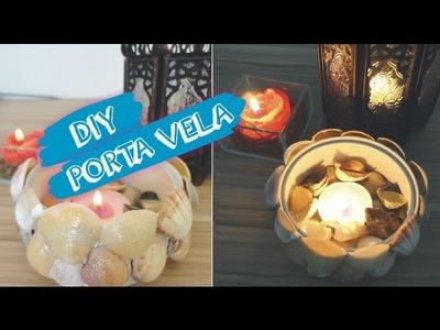 DIY porta vela com conchas | reciclagem de lata | decoração | luminária | Lilian Luz