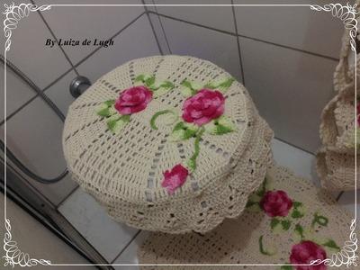 Jogo de banheiro fácil e bonito - tampa do vaso - parte 1 de 3