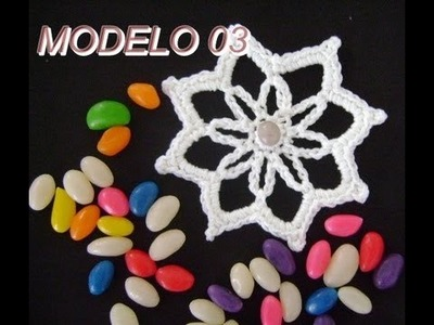 MOTIVOS FLORAIS EM CROCHE MODELO 03