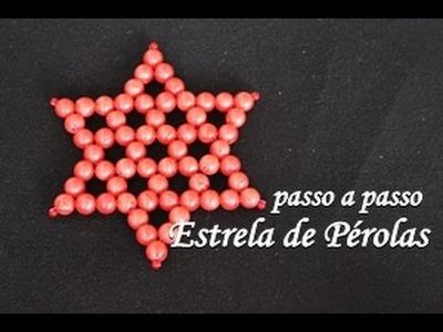 NM Bijoux - Estrela de Pérolas - passo a passo