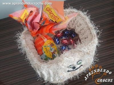 Pote de Páscoa em Croche - 2º Parte - Aprendendo Crochê