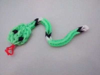 ♥  Serpente Rainbow Loom  ♥ Como fazer Pulseiras de elástico com Garfo. Agulha  (sem tear) ♥