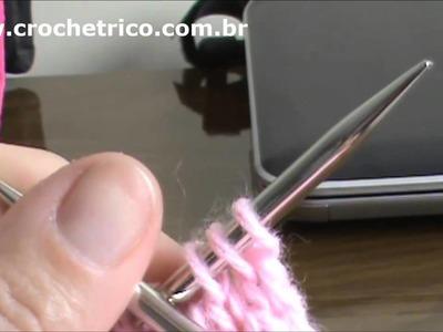 Tricô - Vestidinho Rosa - 3 à 6 Meses - Parte 06.07