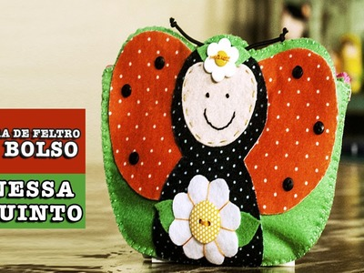 16.12.2014  Carteira de feltro com bolso (Vanessa Iaquinto)