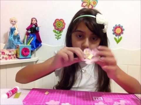 Cartão com papel de scrapbook - Artes com Juju por Julia Moraes