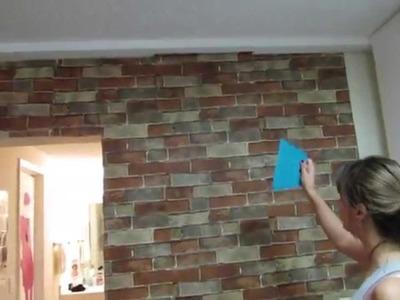 Colocando o Papel de Parede em Casa