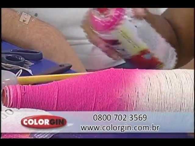 Colorgin no Ateliê na TV - Garrafa para Decoração