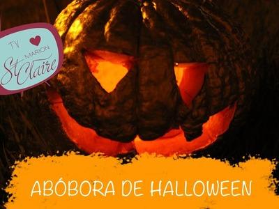Como Fazer Abóbora de Dia das Bruxas - Pumpkin Carving for Halloween --- DIY --- Faça Você Mesma