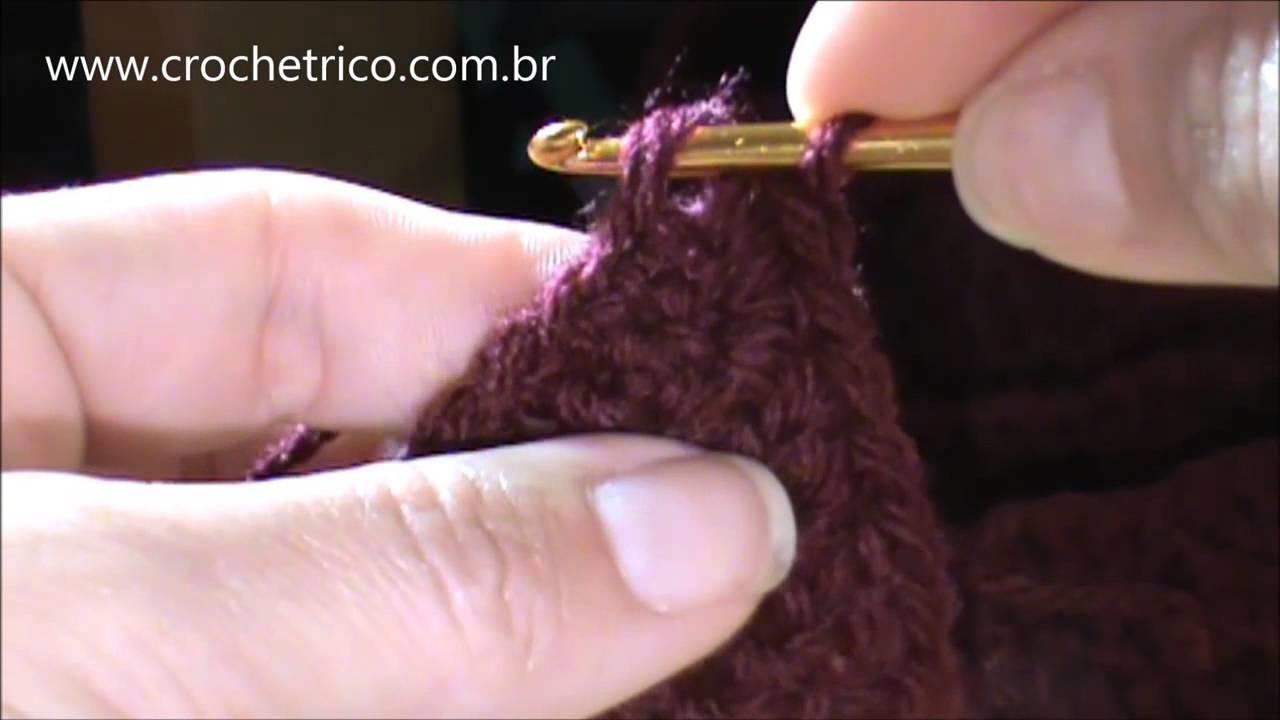 Crochê - Sapatinho Cano Longo para Bebê (6 meses) - Parte 02.03