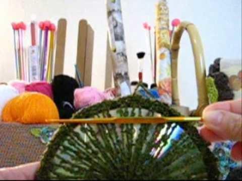 Crochê Tradicional - Bolsa de CDs Estruturada - Parte 05