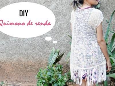 DIY.Customização: como fazer um quimono de renda